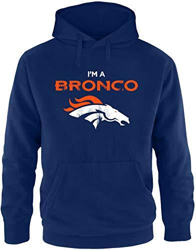 EZYshirt® I`m a Bronco | American Football Pullover Herren | Männer Kapuzenpullover | Hoodie