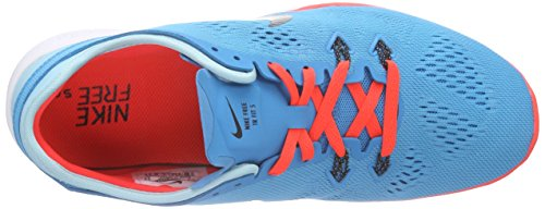Nike Free TR 5.0 Fit 5, Chaussures Multisport Indoor femme Bleu (Blue Lagoon/Blk-Brght Crmsn-Cp 401)