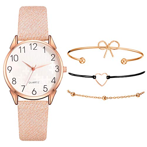 TIREOW Mode Business Armbanduhren für Damen, Einfaches Leder Armband Analog Quarz Damenuhr Frauen Uhr Mit Kleinen Und Feinen Armbändern (A2)