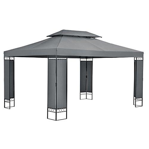 Gartenpavillon Überdachung Pavillon Sonnenschutz Zelt Partyzelt 4 x 4 m Stahl