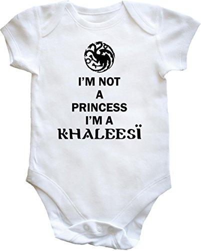 "HippoWarehouse - body infantil con texto en inglés ""I'm Not a Princes"