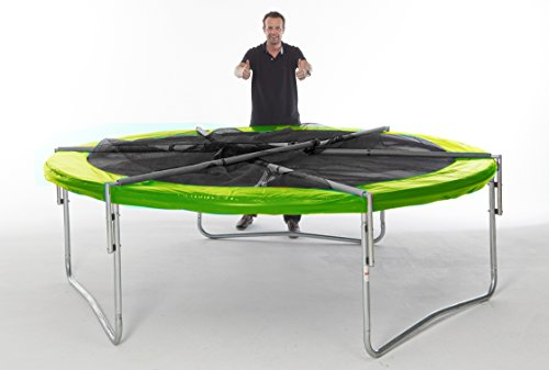 trampolin 305cm mit klappbarem sicherheitsnetz. Black Bedroom Furniture Sets. Home Design Ideas