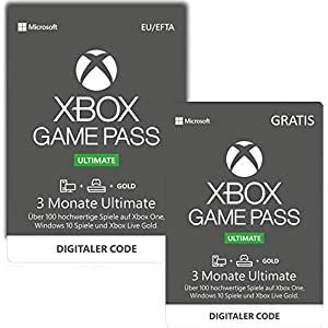 Xbox Game Pass Ultimate | 3 Monate   + 3 Monate GRATIS | Xbox One/Windows 10 PC – Download Code
