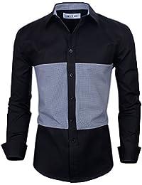 Tom's Ware Chemises Habillees Avec Deux Tons a Manches Longues a Carreaux -Hommes