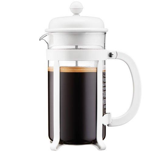 Bodum - 1908-913 - Java - Cafetera 8 Tazas - 1.0 l - Color Blanco Crema
