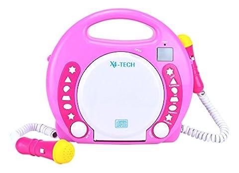 X4-TECH 701354 Kinder MP3/CD-Player Bobby Joey pink