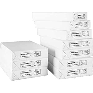 SCHÄFER SHOP Standard-Kopierpapier DIN A4 5000 Blatt 80g - Druckerpapier Laserpapier Inkjetpapier Faxpapier (5000 Blatt)