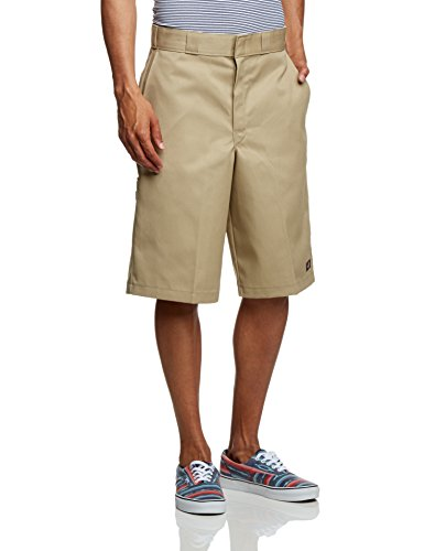 Dickies 15 Multi Pocket Work Shorts Khaki 32 (Knitterfrei Herren Shorts)