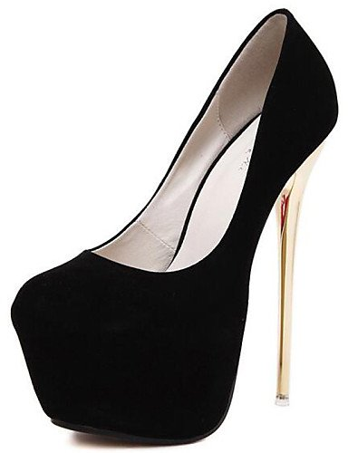 WSS 2016 Chaussures Femme-Mariage / Habillé / Décontracté / Soirée & Evénement-Noir / Rouge-Talon Aiguille-Talons-Chaussures à Talons-Synthétique black-us8 / eu39 / uk6 / cn39