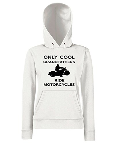 T-Shirtshock - Sweats a capuche Femme OLDENG00097 grandfathersmotorcycle Blanc