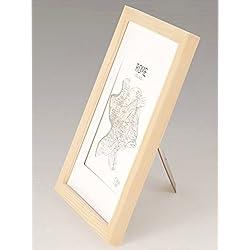 Marcos de Fotos A4 de MADERA SÓLIDA - para Foto / Certificado A4 – Paspartú para Foto 15x20 Incluida - Despintado – REBAJA –¡Anchura del marco 2cm!