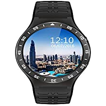 Yy lemfo s99a smartwatch android 5.1 mtk6580m 1.3g cuádruple núcleo 512mb 8gb con gps wifi sim 3g teléfono reloj inteligente para android , black