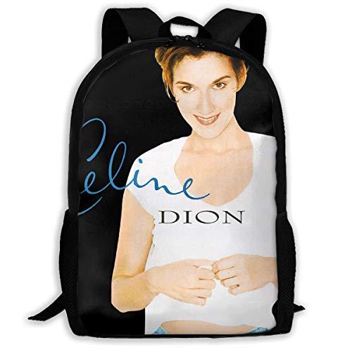 Zaino scuola, Travel Hiking Celine Dion Backpacks Waterproof Big Student College High School Shoulder Bag Outdoor Backpacks For Men Women Adults