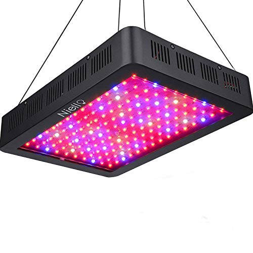 Niello 1500W LED Pflanzenlampe Doppel-10W-Chips LED Grow Light Vollem Spektrum LED Wachstumslicht 150 LEDs Pflanzenlicht Grow Lamp mit UV & IR und mit Rope Hanger für Zimmerpflanzen,Gemüse und Blumen