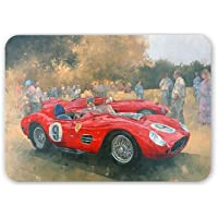 Ferrari day out at Meadow Brook (olio on.. Art247-Tappetino per il Mouse in gomma naturale