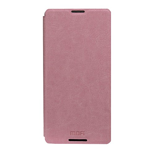 Jo Jo Mofi Leather Flip Cover Case With Slim Back Stand For Sony Xperia Z4 Light Pink  available at amazon for Rs.69