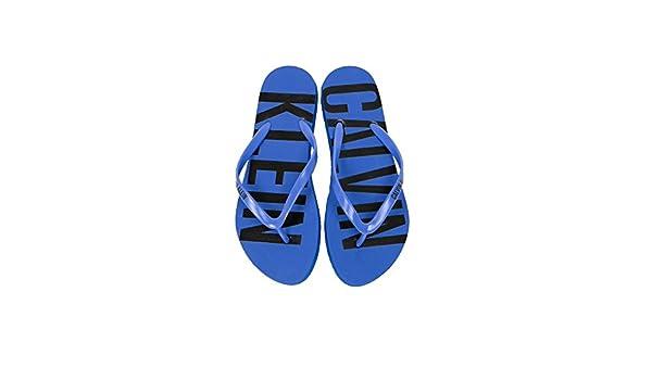 Calvin Klein Underwear Chaussures Spécial Piscine et Plage Pour Femme - Noir - Amparo Blue, 37/38 EU EU