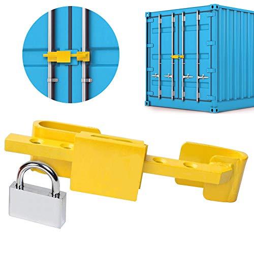 Invero - Cerradura de Puerta de Acero endurecido de Alta Seguridad con candado de Seguridad y 4 Llaves...