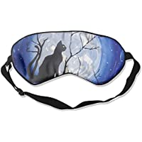 Eye Mask Eyeshade Cat Tree Moon Painting Sleeping Mask Blindfold Eyepatch Adjustable Head Strap preisvergleich bei billige-tabletten.eu