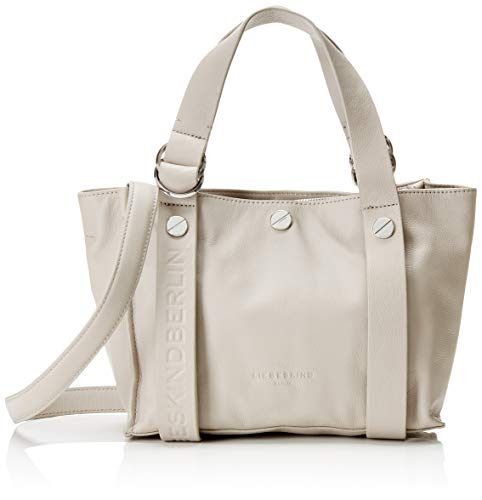 Leder Shopper Medium (Liebeskind Berlin Damen Ring Shopper Medium Schultertasche, Grau (String Grey) 22x17x37 cm)