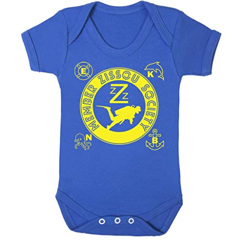 Cloud City 7 Life Aquatic Inspired Zissou Society Baby Grow Short (Life Aquatic Kostüm)