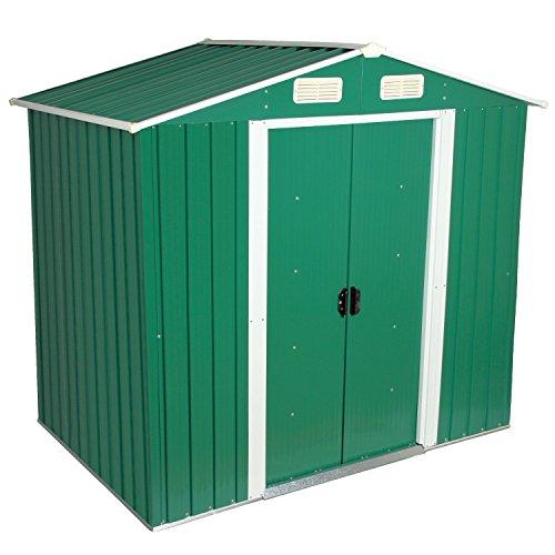 Zelsius - Gerätehaus, Geräteschuppen mit Giebeldach, 204 x 130 cm, grün