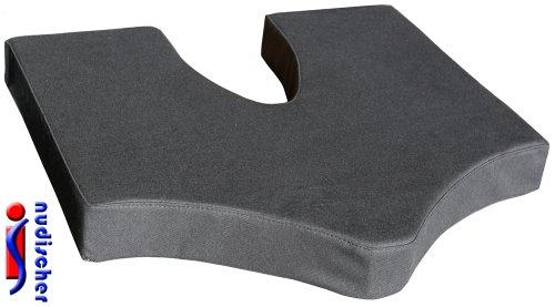 COCCY-X Steißbeinkissen 40x40x5 cm mit Bezug in 100 % BW-schwarz -