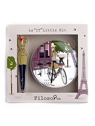 Filosofille Mini Kit de Accessoire Beauté 2 Pièces Épilation Motif Filo à Paris