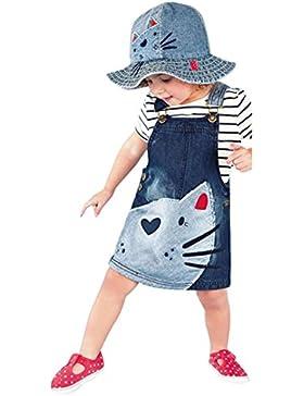 Vestido de invierno, RETUROM Niñas bebés correas de mezclilla Vestido de pieza de vestir tamaño 2-6 años