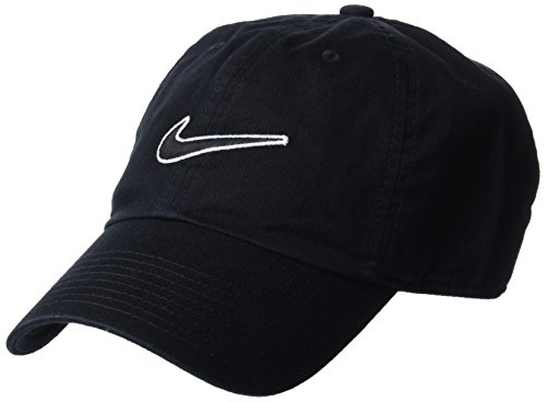 Imagen de nike heritage 86 essential swoosh  regulable, unisex adulto, negro black , talla única alternativa