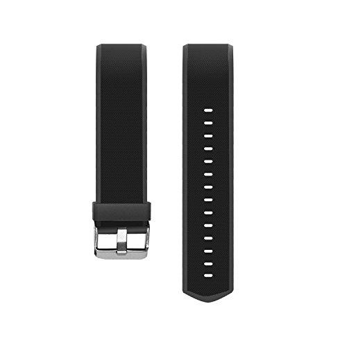 Muzili Einstellbares Ersatzband für Muzili YG3 Plus Fitness Armband mit 5 Farbe Schwarz Rot Grün Blau Violett (Schwarz)