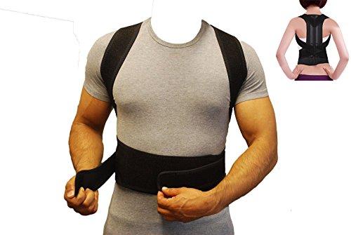 ZSZBACE lifeng ajustables para corrección de postura recto hombro espalda Postura – Hombrera clavícula Soporte Dolores de Espalda y Hombro Dolor para hombres mujeres (XXL)