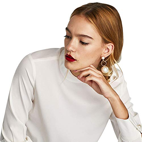 Metme Simulierte Perlen Ohrringe Anhänger Tropfen Baumeln Ohrringe für Party Daily Accessoires Schmuck Geschenke Gold