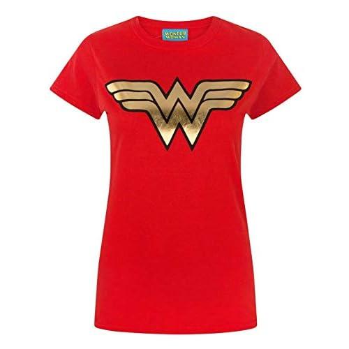 Camiseta para mujer Wonder Woman Foil DC Superhero 1