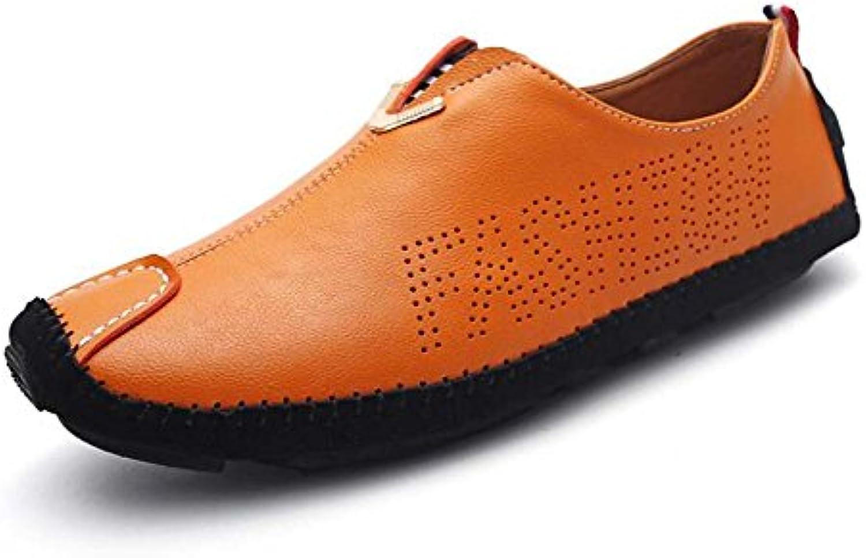 LEDLFIE Herren Lederschuhe Mode Britischen Stil Kleid Business Schuhe Runde Spitze