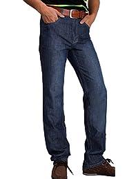 Homme premium Conçu droite jeans coupe droite Pantalon décontracté Jean pants