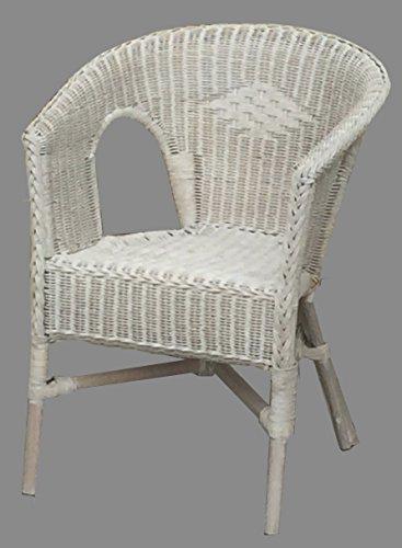 Rattan Sessel Stuhl Toast weiß Rattansessel