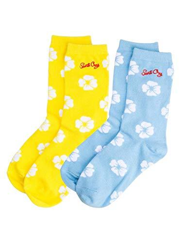Santa Cruz Assorted Liberty Rose 2-Er Pack Damensocken (One Size, Gelb) -