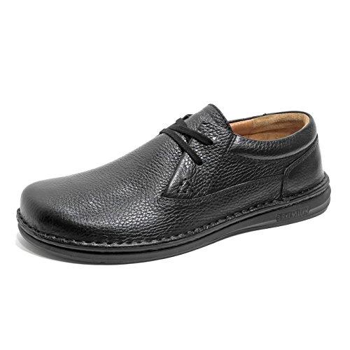 BIRKENSTOCK MENPHIS scarpe basse pelle effetto martellato Black