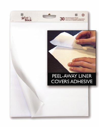 Adams WSP25302W Write'n Stick Lot de 2 paquets de 30 feuilles par bloc Blanc 63,5 x 76,2 cm