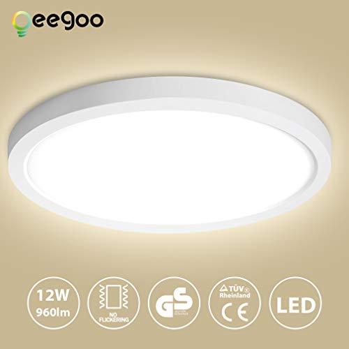 Oeegoo 12W LED Plafón de Superficie Ronda, Lámparas de Techo 960LM, Reemplaza...