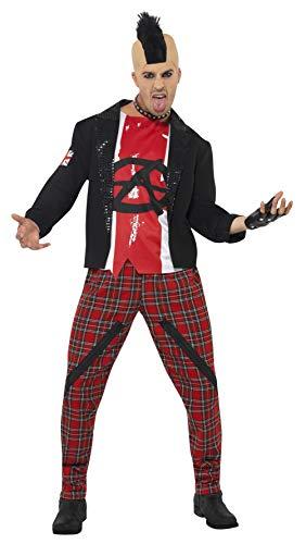 Mr Anarchist Kostüm mit Jacke Oberteil und Hose, - Anarchist Kostüm