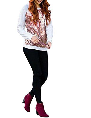 Bling Hoodie Sweatshirt (ZEARO Damen Kapuzenpullover Bling Sequin Hoodie Sweatjacke Sportanzug Kapuzenjacke mit Pailletten)