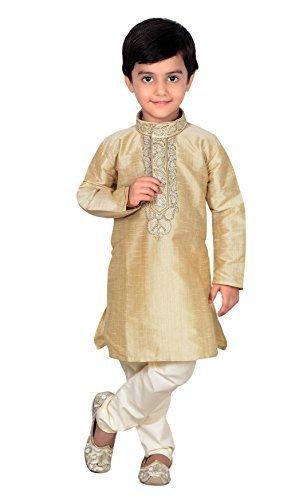 en Sherwani Kurta Churidar Kameez für bollywood-thema Party Hochzeit 874 - Beige, 9 ( 9 yrs ) (Party Thema Für Jungen)