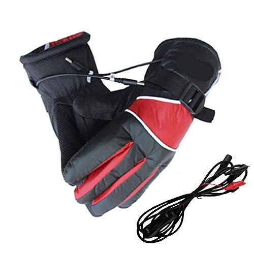 NAKELUCY Elektro-Handschuhe Motorrad elektrische Heizung Handschuhe mit Akku | Lade Warm/Kalt Ob Handschuhe 12V Elektro-Heizung Handschuhe für Männer Frauen Outdoor Sport -