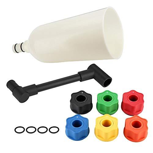EBTOOLS Set di adattatori per imbuto per olio, 8 pezzi Set di riempimento per riempimento imbuto per olio motore per auto universale con tubo di prolunga dell'estremità girevo