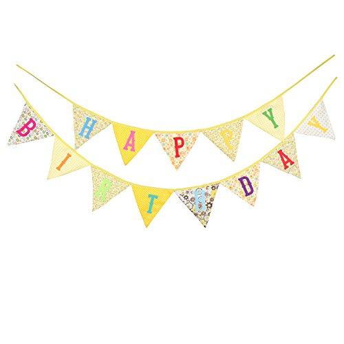 Dorchid Bunte Alles Gute Zum Geburtstag Banner. Wimpel Wimpel mit Hellen Farben für süße Partydekorationen