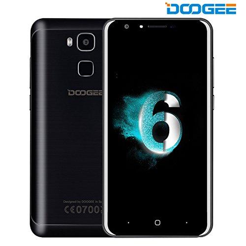 Smartphone ohne Vertrag, DOOGEE X10 Dual SIM Android 6.0 Handy, 5 Zoll HD Display, MT6570 Prozessor 1.3 GHz, 3360mAh Grosse Kapazität Smartphones, 5.0MP Kamera with Flash, 8GB ROM, Bluetooth - Schwarz