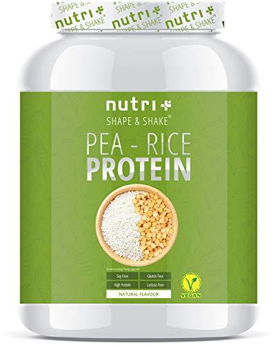 ERBSENPROTEIN + REISPROTEIN Neutral 1kg - Veganes Eiweißpulver ohne Soja, Zucker, Laktose und Süßstoff wie Sucralose - Natural Protein - 80,7% Eiweiß - Hergestellt in Deutschland