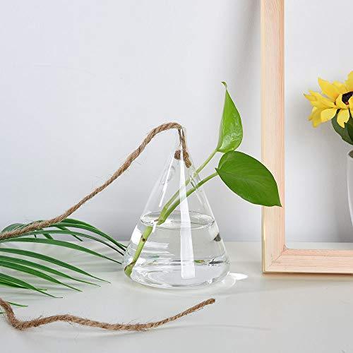 Gaddrt Hängende Glas Ball Vase Blume Blumentopf Terrarium Container Party Hochzeit Dekor Hängende Vase (B) (Gold Schwarz-mittelstücke Und)